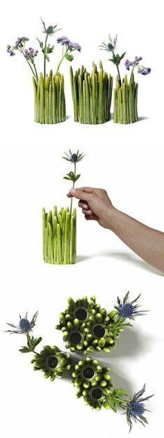 Grass Vase. let it grow.