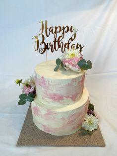 #geburtstagstorte #birthdaycaketoppers #buttercream #flowers Fondant, Cakes, Desserts, Food, Birthday Cake Toppers, Kuchen, Tailgate Desserts, Deserts, Cake Makers
