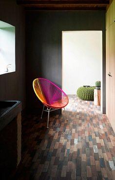 Mexican interior design deco Ideas brightcolors chair