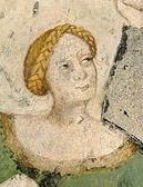 Fresco painting in Torre dell'Aquila, January, c1400