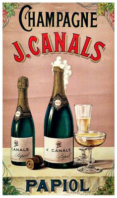 CHAMPAGNE J. CANALS, PAPIOL, años 20