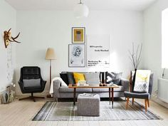 Gorgeous scandinavian living room ideas trending today 40 - Formal living room furniture can continue to be comfortable. A rug may be used to zone a seating area. Scandinavian living room ought to have a significant window, painted white. Mid Century Living Room, Home Living Room, Living Room Designs, Living Room Decor, Living Spaces, Nordic Living Room, Cozy Living, Scandinavian Interior Design, Scandinavian Living