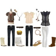 Boho/Vintage Outfits (not sure I could do the white pants though)