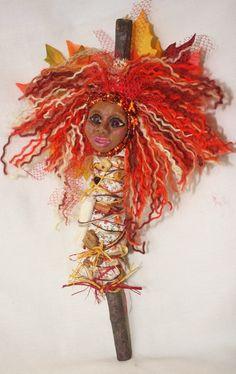 Items similar to Spirit of Autumn - OOAK Spirit Doll on Etsy Color Symbolism, Ugly Dolls, Spirited Art, Voodoo Dolls, Spirit Doll, Soft Dolls, Textile Artists, Box Art, Fabric Art