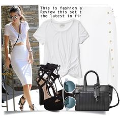 Get The Look - Kendall Jenner by hattie4palmerstone on Polyvore featuring Abercrombie & Fitch, Cushnie Et Ochs, Schutz, Zadig & Voltaire, GetTheLook, kendalljenner and polyvoreeditorial