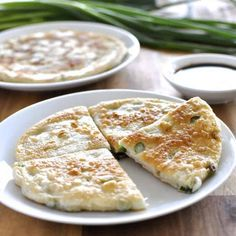 Scallion Pancakes (Shallot Pancakes)- my favourite Chinese restaurant treat at home! Chewy, and flaky on the inside, slightly crisp on the outside. Great way to use up scallions, I always seem to have leftovers Crepes, Scallion Pancakes Chinese, Donuts, Recipetin Eats, Recipe Tin, Chinese Restaurant, Asian Recipes, Asian Foods, Chinese Recipes