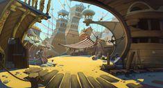 Animation backgrounds, Egor Afonin on ArtStation at https://www.artstation.com/artwork/JJGAR