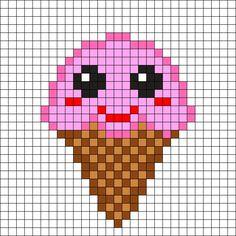 Kawaii Ice Cream Perler Bead Pattern