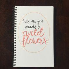 Hand Lettered Saying Notebook / Hand Lettered Notebook / Custom Notebook / Spiral Journal / School Supplies / Stationery / Teacher Gift