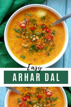 Simple, comforting yet tasty regular toor dal that uses minimal ingredients and can be made within 20 minutes. #toordal #arhardal #tuvardal #dal #lentilsrecipes #lentils Vegetarian Platter, Tasty Vegetarian Recipes, Soup Recipes, Healthy Recipes, Healthy Meals, Delicious Recipes, Easy Recipes, Deep Fried Recipes, Legumes Recipe
