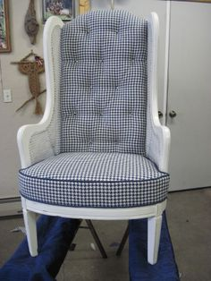 Room RX: Bold & Blue: chair makeover