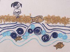 More Yarn Pictures For Rosh HaShana: Tashlich! - creative jewish mom