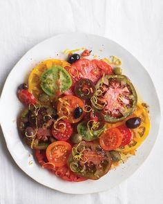 Tomato Salad with Olives and Lemon Zest - Martha Stewart Recipes