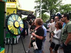 hanks to everyone who stopped by to spin the New Jersey Lottery's Prize Wheel at the Jersey Shore Food Truck Festival at Monmouth Park in Oceanport during Memorial Day weekend 2014! Buy this Prize Wheel at http://PrizeWheel.com/products/floor-prize-wheels/floor-table-black-clicker-prize-wheel-12-slot/.