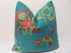 Ikat Aqua And Lime Green Pillow A Plumpness Of Chair