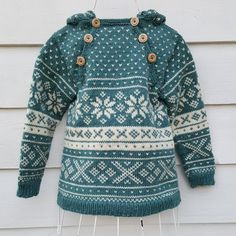 Snøhetta anorak and sweater von SiSiVeAS auf Etsy Knitting For Kids, Knitting Projects, Baby Knitting, Crochet Baby, Knit Crochet, Baby Fair, Fair Isle Pattern, Fair Isle Knitting, Knitting Charts
