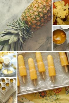 Pineapple Passion Fruit Popsicles. Bright, tropical, delightful! From Blossom to Stem | Because Delicious http://www.blossomtostem.net