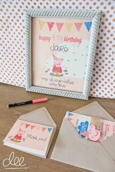 15 Peppa Pig Invitations  Kids Birthday by deesignsbyDee on Etsy