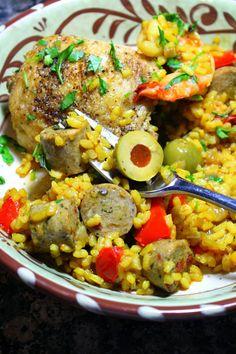 37 Cooks: Chiffonade's Sausage, Chicken & Shrimp Paella Mary Recipe, Recipe Box, Chicken Corn Chowder, Chicken And Shrimp, Latin Food, Spanish Food, Paella, Stew, A Food
