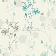 Awesome flax flower vector