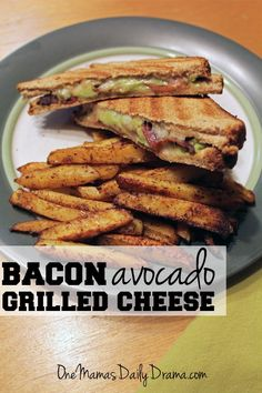 Bacon avocado grilled cheese sandwich | from One Mama's Daily Drama ...