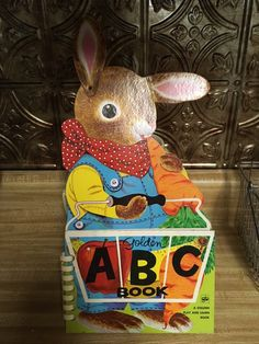 Items similar to Vintage Golden Book ABC Rabbit Richard Scarry Cover 1972 Play and Learn Nursery School on Etsy Richard Scarry, Nursery School, Decorative Items, Kids Room, Rabbit, Snoopy, Lettering, Play, Learning