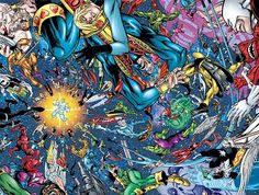 Thanos wiping out the Marvel Universe with the Infinity Gauntlet Marvel Comics Art, Marvel Vs, Marvel Heroes, Marvel Comic Character, Marvel Characters, Comic Books Art, Comic Art, Book Art, The Original Avengers