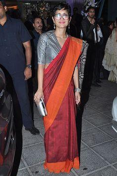 Best dressed this week: Aditi Rao Hydari and Sonam Kapoor Sari Blouse Designs, Saree Blouse Patterns, Designer Blouse Patterns, Blouse Styles, Saree Jackets, Modern Saree, Elegant Saree, Saree Dress, Kiran Rao