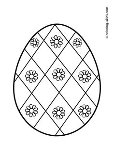 Easter egg coloring pages for kids, prinables