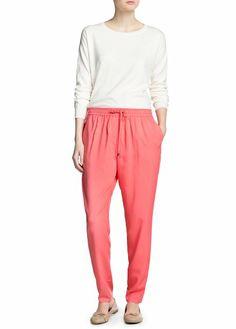 Mango Lightweight baggy trousers