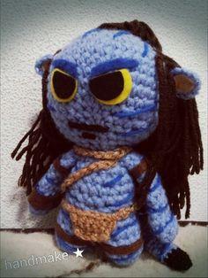 Avatar action figure #handmake #handmaketoys #handmade #avatar #blue #actionfigure #souvenir #toy #etsyfind #amigurumi #аватар #игрушка #сувенир #синий #ручнаяработа #амигуруми