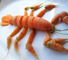 funny-lobster-made-of-carrots     #joescrabshack
