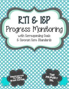 K-3 RTI & IEP Progress Monitoring Collection