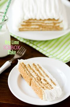 Key Lime Ice Box Cake from @cookbookqueen