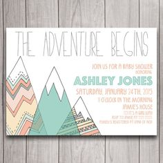 Adventure Tribal Baby Shower Invitation Digital Download, Mountains Bohemian Bridal Bachelorette Party, Pow Wow Birthday Invite Printable