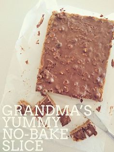 Grandma's no-bake chocolate slice - butternut snap and Marie biscuits soup soup soup healthy recipes froide legumes minceur potimarron Baking Recipes, Cake Recipes, Snack Recipes, Dessert Recipes, Snacks, Soup Recipes, Kitchen Recipes, No Bake Slices, Cake Slices