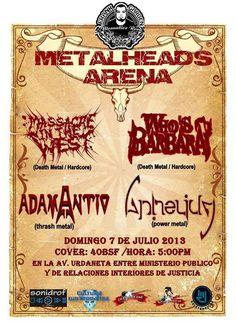 Cresta Metálica Producciones » METALHEADS ARENA el domingo 07 de Julio en Frank Garden Bar (Caracas)!!