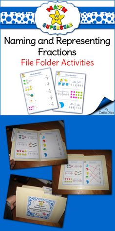 Trouble with fractions? These file folder activities are perfect for practicing over and over again!!!! 10 different worksheets to make 5 file folders [$$]