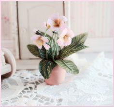 Nukkekoti Väinölä : Soilikin Help - how to make this pretty pink plant