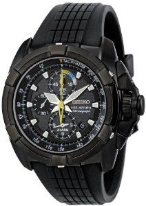 Seiko Men's SNAE17 Black Carbon Fiber Dial Velatura Watch Seiko. $329.00. Water-resistant to 100m (330 feet). Stainless steel plated watch. Case diameter: 44 mm. Japanese-quartz movement. Durable sapphire crystal protects watch from scratches,. Save 53%!