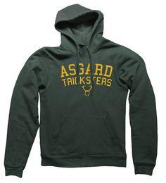 Asgard Tricksters Hooded Sweatshirt college athletics football Loki on Etsy, $29.95