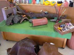 """Liking the natural materials & terracotta pipe used here - from Irresistible Ideas for Play Based Learning ("""",)"""