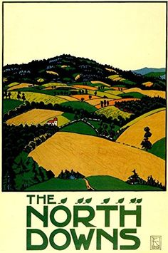 Mixed Media - The North Downs - London Underground - London Metro - Retro Travel Poster - Vintage Poster by Studio Grafiikka , Posters Uk, Train Posters, Railway Posters, Art Deco Posters, Poster Ads, Advertising Poster, Illustrations And Posters, Alexander Von Humboldt, London Transport Museum