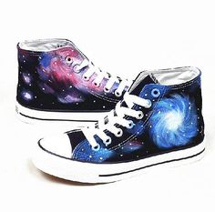 Galaxy Converse shoes Custom Converse Galaxy by Kingmaxpaints---- Great for science class or Finals Galaxy Converse, Galaxy Shoes, Converse Sneakers, Galaxy Galaxy, Converse Style, Galaxy Print, Cool Converse, Adidas Shoes, Balenciaga Shoes