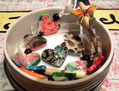 Jennibellie Studio: Recycled Flat Bead Tutorial