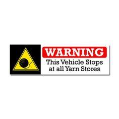 Yarn Stores Warning Car Magnet 10 x 3