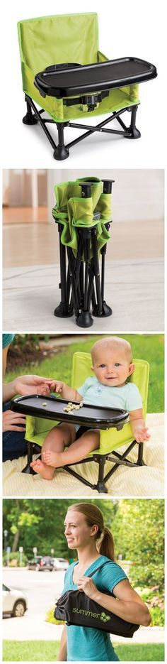 Portable High Chair for baby. Such a great product for moms traveling with infant or toddler!