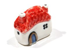 Handmade & painted miniature house No21 by SylviaInDaHouse on Etsy, $25.00