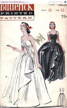 SALE UNCUT 1950s Strapless Breathtaking Bouffant by anne8865, $69.00