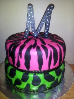 Zebra n cheetah print By EvieliciousCakes on CakeCentral.com